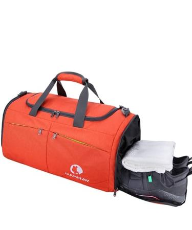Canway Sports Gym Bag with Wet Pocket & Shoes Compartment Unisex