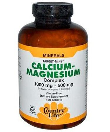 Country Life Target-Mins Calcium-Magnesium Complex 180 Tablets