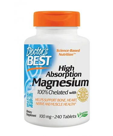 Doctor's Best High Absorption Magnesium - 240 Tablets