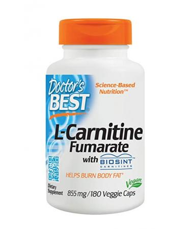 Doctor's Best L-Carnitine Fumarate - 180 Veggie Caps