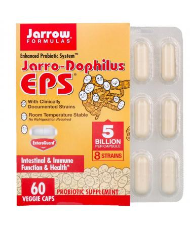 Jarrow Formulas Jarro-Dophilus EPS 5 Billion 60 Veggie Caps