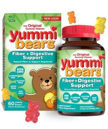 Hero Nutritionals Yummi Bears Fiber+Digestive Support - 60 Gummies