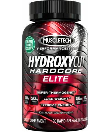MuscleTech Hydroxycut Hardcore Elite - Not Flavored - 100 Capsules