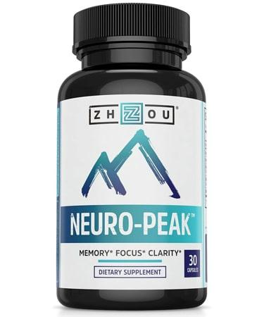 Zhou Nutrition Neuro Peak Brain Support Supplement - 30 Capsules
