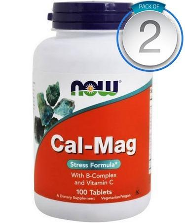 Now Foods Cal-Mag Stress Formula 100 Tablets - PACK OF 2