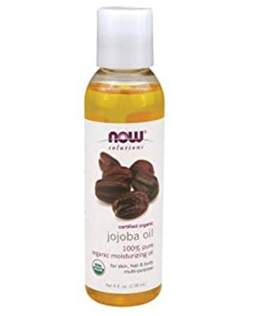 Now Foods Solutions Certified Organic Jojoba Oil 4 fl oz (118 ml)
