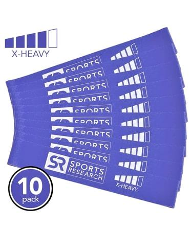Sports Research Premium Resistance Mini-Loop Bands - 10 Pack
