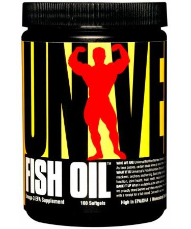 Universal Nutrition Fish Oil - Not Flavored - 100 Softgels