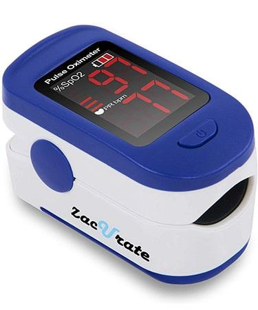 Zacurate 500BL Fingertip Pulse Oximeter Blood Oxygen - Navy Blue
