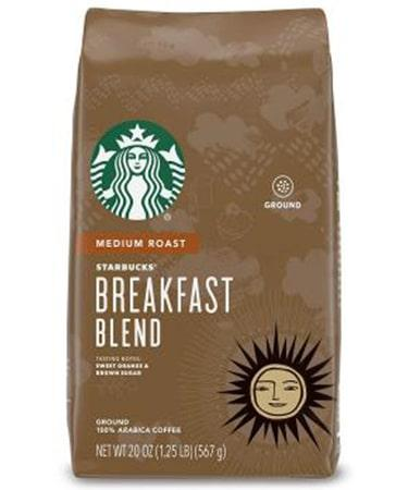Starbucks Medium Roast Ground Breakfast Blend - 1 bag (20 oz)