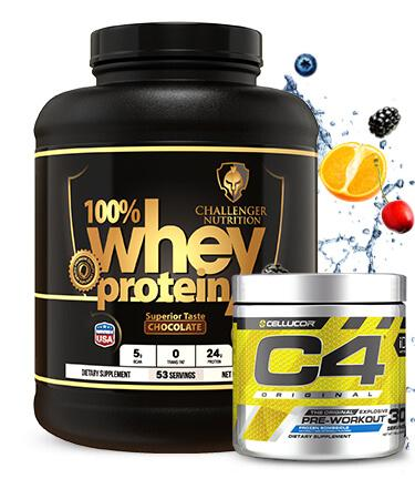 Challenger 100% Whey 5 Lbs & C4 - 30 Servings