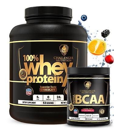 Challenger 100% Whey 5 Lbs & CN BCAA - 30 Servings