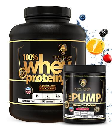 Challenger 100% Whey 5 Lbs & CN The Pump - 30 Servings